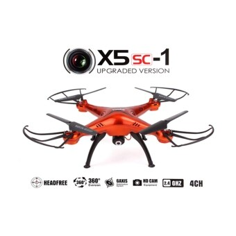 Harga Syma X5SC-1 Falcon Drone HD Camera 4 Channel 2.4G Quadcopter(Red)