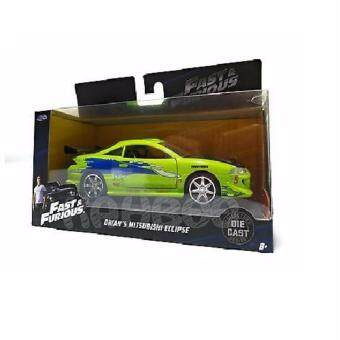 Harga JADA FAST & FURIOUS 8 1:32 BRIAN'S MITSUBISHI ECLIPSE GREEN COLOUR LIMITED EDITION-KB24037