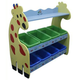 Harga Children Giraffe Storage Rack with 8 Boxes Yellow