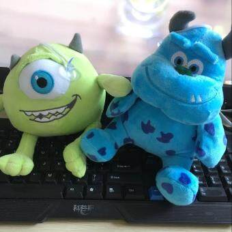 Harga 2pcs/set 20cm Monsters Inc Monsters University Monster Mike Wazowski+James P. Sullivan Plush Toy for Kids Gift