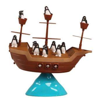 Harga BolehDeals Kids Plastic Family Fun Toys Pirate Boat Toy Penguin Balance Game Board Toys