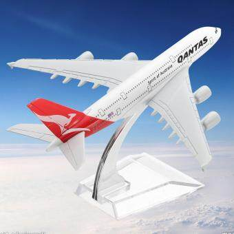 Harga 16CM Qantas Airways Australia Airlines A380 Airplane DieCast Plane Model Toy
