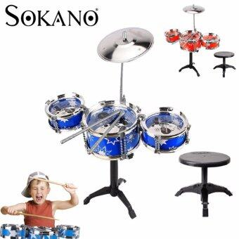 Harga SOKANO Mini Jazz Drum- Blue