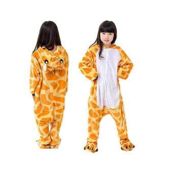 Harga Baby Toddler Pyjama Sets Lovely Child Giraffe Shape Long Sleeve Soft Flannel Pajamas(Giraffe)(Size:125)