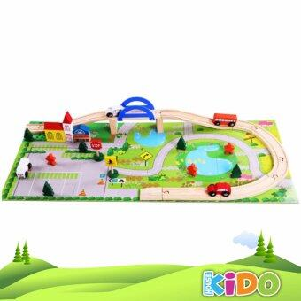 Harga Kido House - Early Learning Educational Rail Overpass Wooden Toys