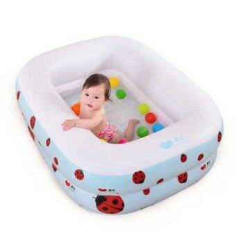 Harga Aole Mini Swimming Pools 1.2 Meter (Snow White) - 2 Layer