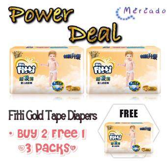 Harga [BUY 2 FREE 1] FITTI GOLD TAPE JUMBO PACK M44