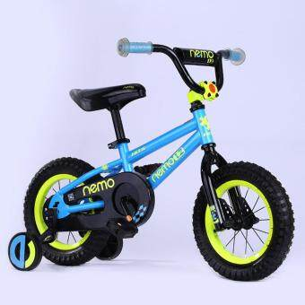 Harga HITS Nemo Children Bike Kid Safe Bicycle With Training Wheels 12 Inch 4 Color Blue