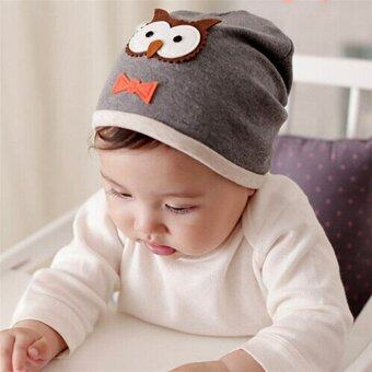 Harga Unisex Cotton Owl Beanie Hat For New Born Baby Boy Girl Soft Toddler Cap Kid Child Hat Knit Warm Cap (gray)