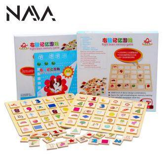 Harga NaVa Children Early Education Memory Picture Wood Cards Game Tools
