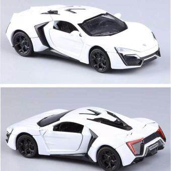 Harga New Arrival 1:32 Fast&Furious 7 Lykan Hypersport Diecast Model Car with Light & Sounds,Door Opening-White