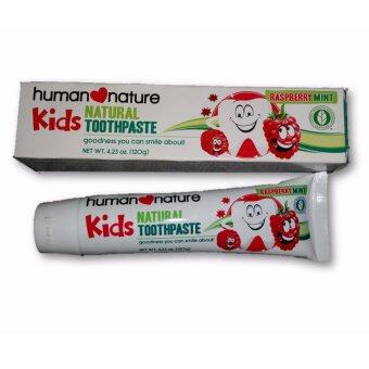 Harga Human Nature Kids Natural Toothpaste - Raspberry Mint