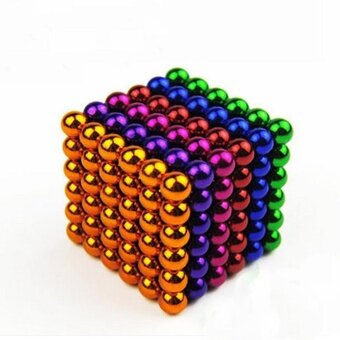 Harga 5mm Interesting Children Kids Bucky Ball Cube 216 Iron Magnetic Ball Educational Buckyballs Toys- Multicolors