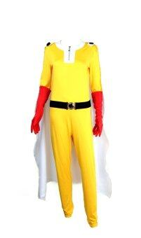 Harga Cosplay One Punch Man Saitama Costumes Men Fancy Dress (Yellow)