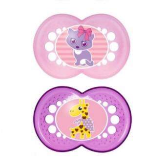 Harga MAM Original Pacifier Soother - Cat Giraffe (Twin Pack 6m+)