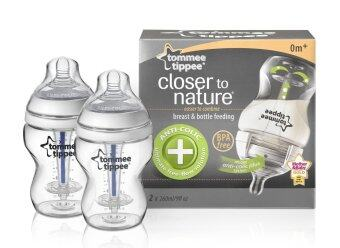 Harga Tommee Tippee Closer to Nature Anti Colic Plus PP Bottle 260ml/9oz Twin Pack