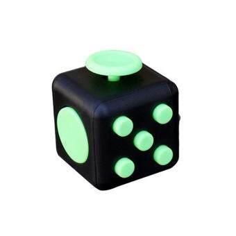 Harga LALANG Vinyl Desk Finger Toys Squeeze Fun Stress Reliever Mini Fidget Cube Toy (Green)