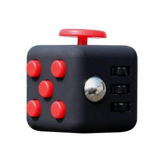 Harga Hang-Qiao Mini Fidget Cube Toy Vinyl Desk Finger Toys Squeeze Fun Stress Reliever (Red)