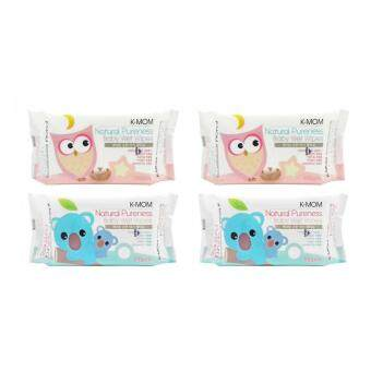 Harga K-MOM Baby Wet Wipes 100pcs x4