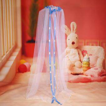 Harga Cute Hanging Round Dome Bed Canopy Netting Baby Kids Crib Mosquito Net Curtain Home (Blue)