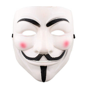 Harga Vendetta Halloween Cosplay Fancy Dressing V Mask Costumes Fawkes Anonymous