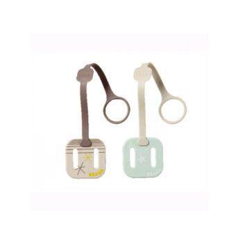 Harga beaba set of 2 soft soother clips