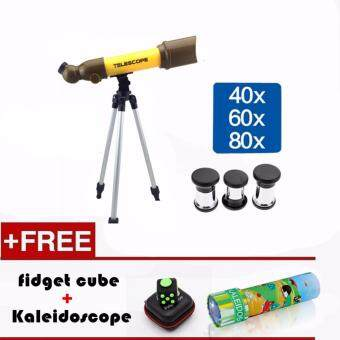 Harga SEA&SUN TOY Educational Toy 50mm Refractor Telescope Microscope 80X Combo Science Math Star Toy Great Gift to Kids
