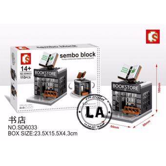 Harga Sembo Block SD6033 Book Store Mini Street building blocks