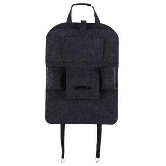 Harga Car Auto Seat Back Multi-Pocket Storage Bag Holder Organizer Hanger Accessory (Dark Gary)(Grey) - Int'l