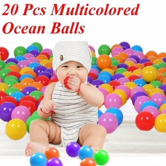 Harga 7cm Colorful Ball Fun Ball Soft Plastic Ocean Ball Baby Kid Toy Swim Toy 20Pcs