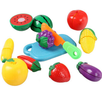 Harga Fancytoy Children Fun Kitchen Food Play toy Cutting Fruit Vegetable