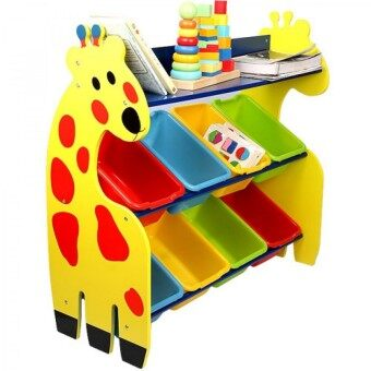 Harga Kids Toy Organizer with 8 Colourful Storage Bins [Giraffe]