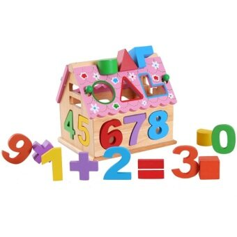 Harga Sokano Wooden House Educational Toy