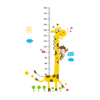 Harga Kids Height Chart Measure Giraffe Monkey Stickers