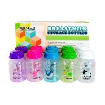 Harga Milk Planet Storage Bottles 5oz - Mix Colours