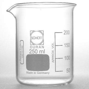 Harga DURAN 250ml Glass Beaker Low Form With Spout Boiling Flask Laboratory Glassware