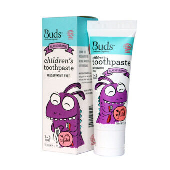 Harga Buds for Kids Children's Toothpaste with Xylitol (1-3 Yrs Old) - 50ML Blackcurrant