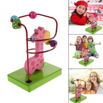 Harga Children Kids Baby Colorful Wooden Mini Around Beads Giraffe