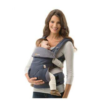 Harga Ergobaby Baby Korea Style Carrier Top Baby Sling Hipseat four style 360 baby baby sling cotton multifunction baby carrier air section- Grey blue
