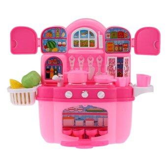 Harga Colorful Kitchen Play Set Happy Cook Children Kids Toy Kichen Cabinet Play House Toy with Flashing Lights and Music