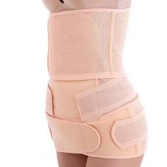 Harga Ultra-thin Breathable Postpartum Recovery Belt Maternity Belt Slimming Belt Body Shaping Girdle Belt Size L