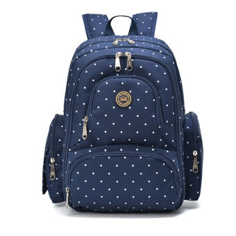 Harga 2016 New Large capacity multifunctional mummy backpack nappy bag baby diaper bags mommy maternity bag babies care product Blue Dots