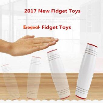 Harga EsoGoal Fidget Spinner Amazing Desk Toy ,Fun Dimensional Sided Toys Rollver Toy Desktop Flip Toys Fidget Stick Relieve Stress, White