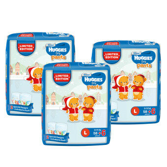 Harga Huggies Dry Pants L58+6 x 3 Limited Edition pack
