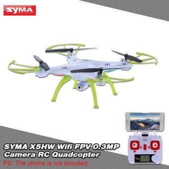 Harga Original SYMA X5HW Wifi FPV 0.3MP Camera RC Quadcopter with 360� Eversion CF Mode Hover Function