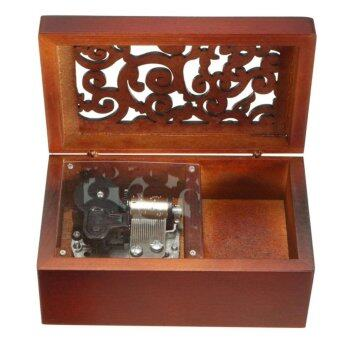 Harga Antique Engraved Wooden Wind-Up Musical Box,Always With Me From Spirited Away Musical Box,with Silver-plating Movement in,Rectangle