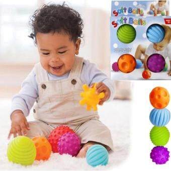 Harga Baby Touch Hand Ball Toys Baby Training Ball Massage Soft Balls for Baby (4pcs)