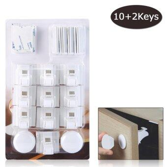 Harga leegoal Baby Safety Magnetic Cabinet Locks Adhesive Lock Set, 10 Locks+2 Key+12 (3M Adhesive)
