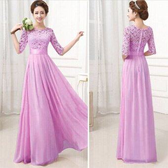 Harga Long Bridesmaid Prom Gown Party Cocktail Prom Dress Purple