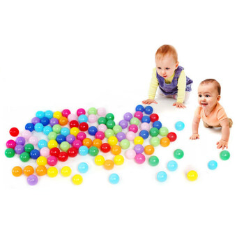 Harga 100pcs Colorful Ball Fun Ball Soft Plastic Ocean Ball Baby Kid Toy Swim Pit Toy